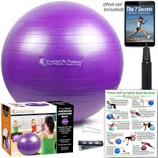 Pilates Ball Chair Size by Amazon Com Exercise Ball For Balance Stability Yoga Pilates