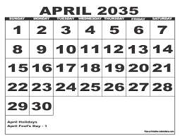 2035 free printable monthly calendars style 6 free printable