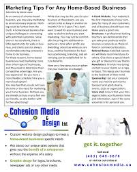 Home Based Graphic Design Business Marketing U0026 Advertising Advice From The Experts Cohesion Media
