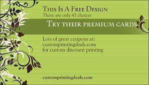 Free Business Cards Printing Vistaprint Business Cards Here U0027s Why 500 For 10 Is Better Than Free