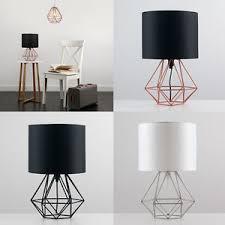 geometric home decor diamond shape geometric table l drum shade bedside lighting home