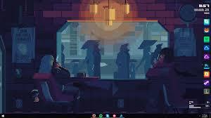 wallpaper engine download slow cyberpunk coffee rainmeter