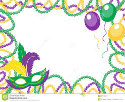 mardi gras frame mardi gras colored frame with a mask and balloons isolated