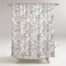 Turquoise Paisley Curtains Multicolor Paisley Shower Curtain World Market