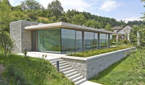 Glass And Concrete House by Stone Concrete And Glass Modern Architecture Germany Design Glass