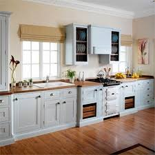 Light Gray Kitchen Walls Light Grey U0026 Cream Hand Painted In Frame Kitchen Showing Sink