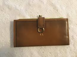 vintage brown rolfs leather ladies wallet