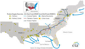 Map Of Mexico Coast east coast and gulf coast transportation fuels markets energy