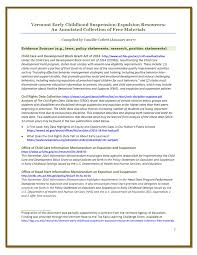 vermont early childhood suspension expulsion resources an