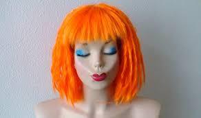 Leeloo Halloween Costume Cosplay Wig Orange Dreadlocks Hairstylewig Orange Hair Wig