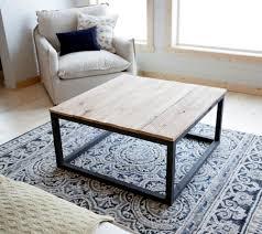 wood top coffee table metal legs furniture stunning steel coffee table ideas high definition