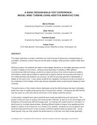 a basic design build test experience model wind turbine using