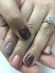 multi color taupe u0026 grey purples gel nails gel nail