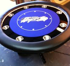 round poker table with dining top dining room interactive dining room decoration using round blue