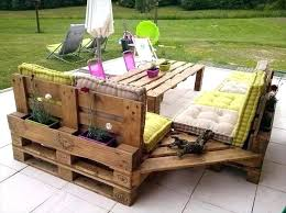 pallet lawn furniture turn wooden pallets into patio furniture