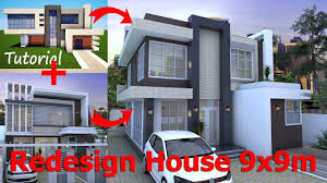 sketchup modern home plan 9x9m redesign youtube