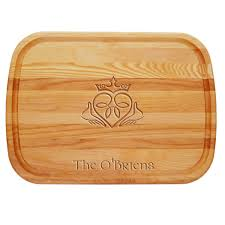 personalized serving tray claddagh personalized serving wood board
