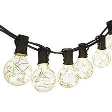 Where To Buy Patio String Lights Amazon Com Outdoor String Lights 25 Feet Indoor Globe String