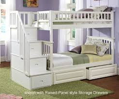 Ikea White Bunk Bed Columbia Staircase Bunk Bed White Bedroom Furniture Beds
