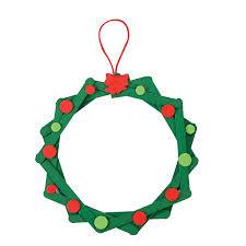 craft stick wreath ornament craft kit orientaltrading com cute