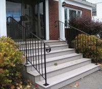 2 Step Handrail Wrought Iron Step Railing Exterior Outdoor Railings For Steps How