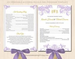 wedding fan program template free wedding fan program template free printable invitation