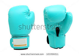 vintage bright blue color boxing gloves stock photo 103359344
