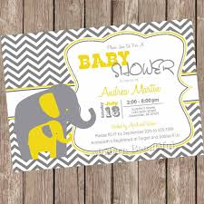 yellow and gray baby shower yellow and gray elephant baby shower invitation yellow grey