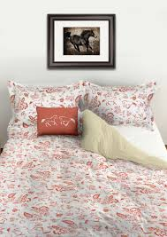 country floral horses patterned duvet bedding cover the painting