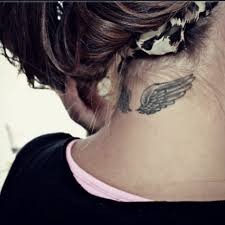 Neck Wing - back of neck tattoos wings search tattoos to do