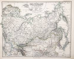 Map Russia Map Of North Asia And Russia 1885