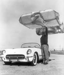 first chevy car birth of a breed first chevy corvette rolled off line today in
