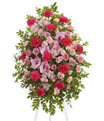 funeral spray pink tribute spray at from you flowers