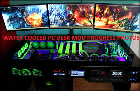 Custom Desk Computer Custom Water Cooled Pc Desk Mod Photo Progress Part 5 4k 1440p