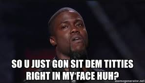 Sit On My Face Meme - so u just gon sit dem titties right in my face huh kevin hart