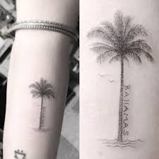 8 palm tree tattoos style