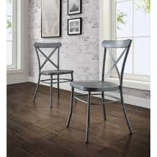 Silver Dining Room Set by Better Homes And Gardens Collin Silver Dining Chair 2pk Walmart Com