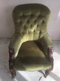 Victorian Upholstered Chair Antique Believed Victorian Upholstered Chair In Good Condition