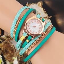 leather strap bracelet watches images Casual women woven wrap strap pu leather band bracelet watch jpg