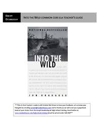 into the wild common core ela teacher u0027s guide common core state