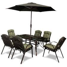 6 Seater Patio Furniture Set - aluminium and steel furniture sets garden furniture topline