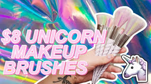 8 unicorn makeup brushes from aliexpress ebay
