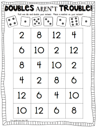 double trouble math game to practice doubles facts kinder math