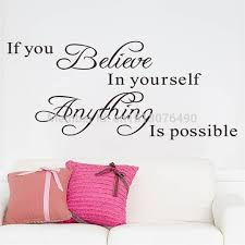 believe home decor home decoration wall quote sticker decals decor if you believe in