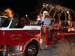 Fire Trucks Decorated For Christmas Want East Lake Fire U0027s Santa Truck To Visit Your Home East Lake