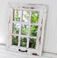 Window Mirror Decor by Rustic Farmhouse Window Mirror Window Pane Mirror Shabby Chic