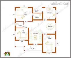 House Plans 1200 Square Feet Outstanding 1200 Square Feet Two Bedroom House Plan And Elevation