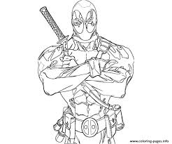 deadpool coloring pages free download printable
