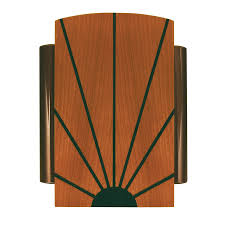 shop heath zenith wired door chime with a solid birch cover with