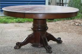 Antique Pedestal Dining Table Antique Oak Claw Foot Pedestal Dining Table Antique Price Guide